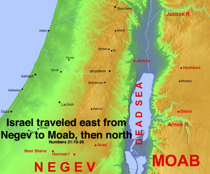 Israel crosses into Moab