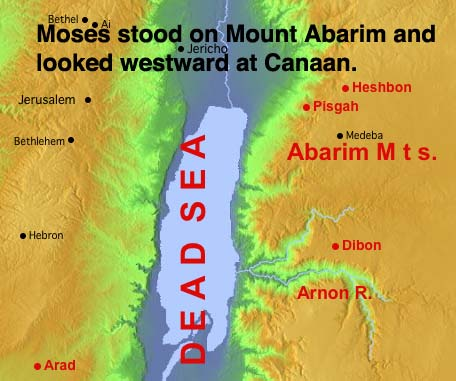 Moses on Mount Abarim