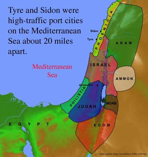Tyre-Sidon Map